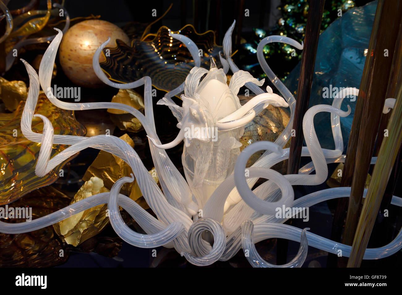 Calamari e anguilla in vetro fantasia di subacquea tecnica di Chihuly ROM Toronto Immagini Stock