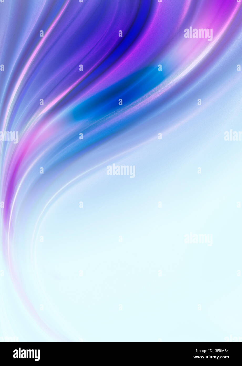 Sfondo Blu Dalla Caduta Onde Rosa E Sfumature Di Colore Viola Foto