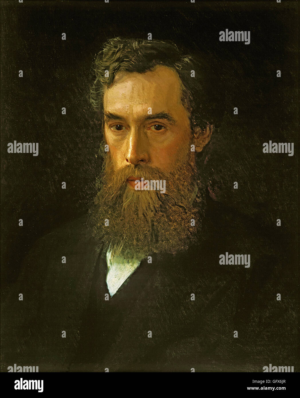 Ivan Kramskoy - Portret P.M.Tret Immagini Stock
