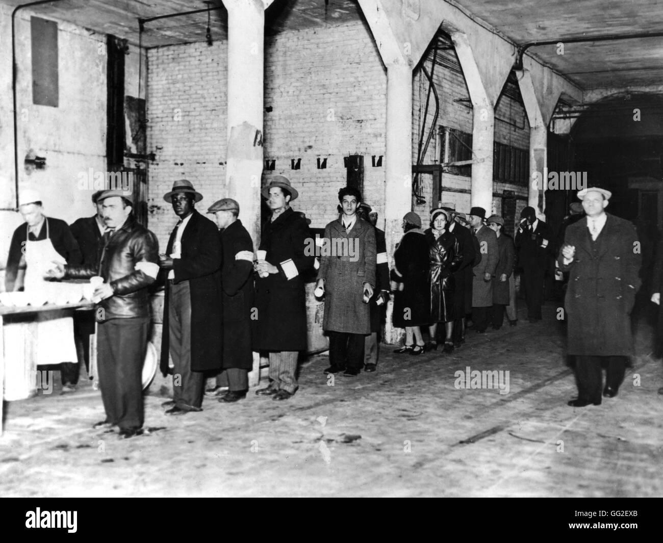 L'Esercito della Salvezza alimentando i disoccupati durante la Grande Depressione c.1929-1930 Stati Uniti d'America Immagini Stock