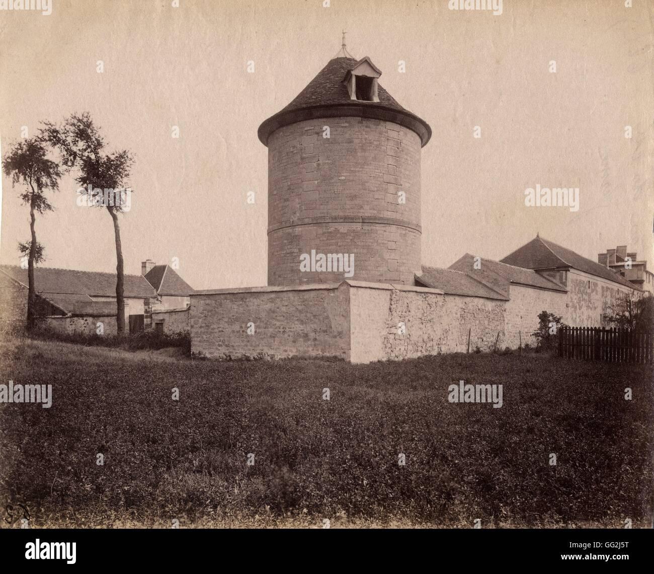 Eugène Atget ex castello del conte di San Romano in Villejuif vicino a Parigi c.1900 albume stampa dopo il Immagini Stock