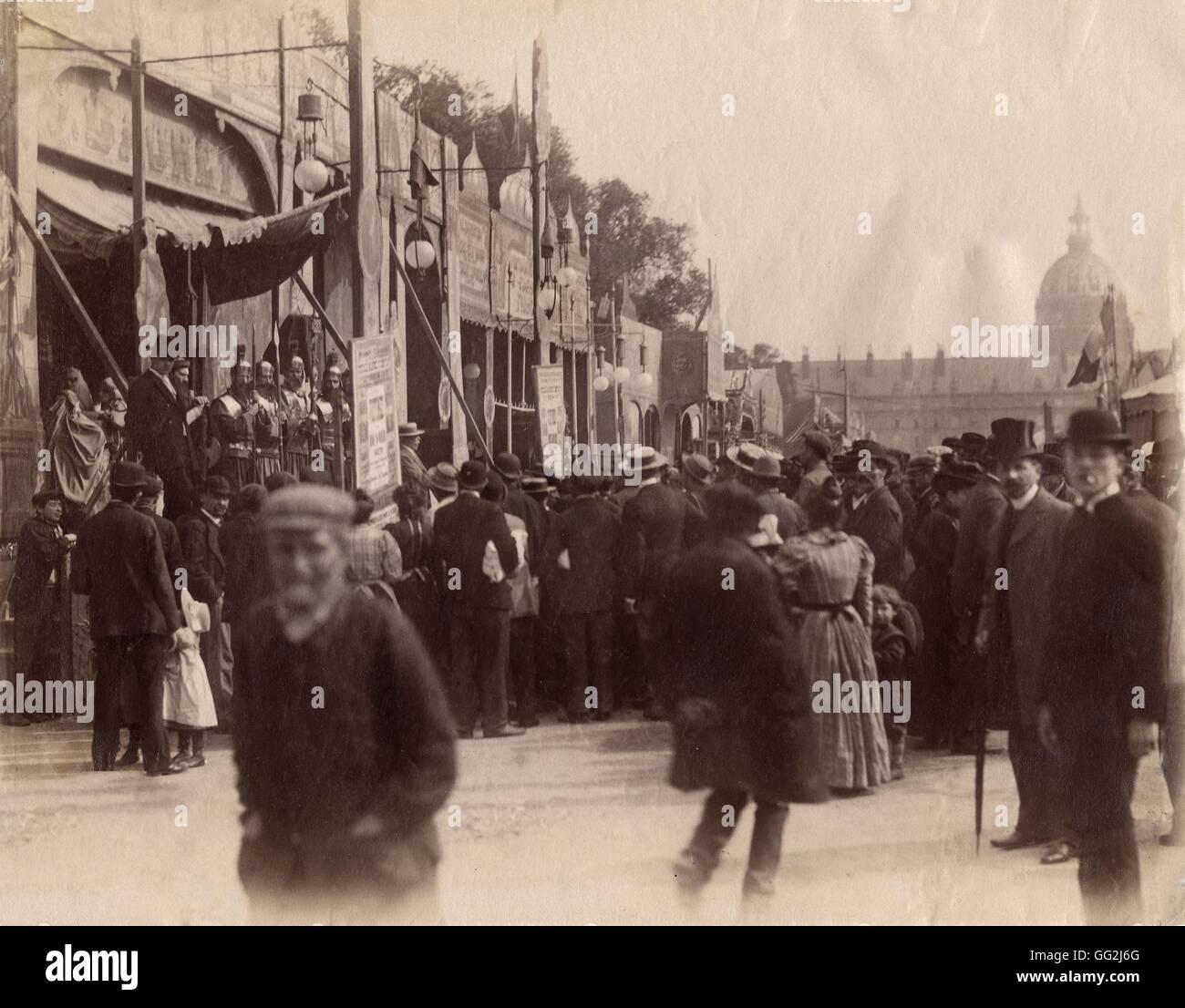 Eugène Atget la Fête des Invalides a Parigi 1898 albume stampa dopo il piano di vetro negativo (17,3 x Immagini Stock