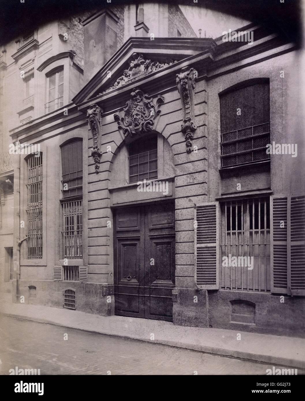 Eugène Atget porta, 13 rue du Regard nel 6 ° arrondissement di Parigi c.1900 albume stampa dopo il piano Immagini Stock