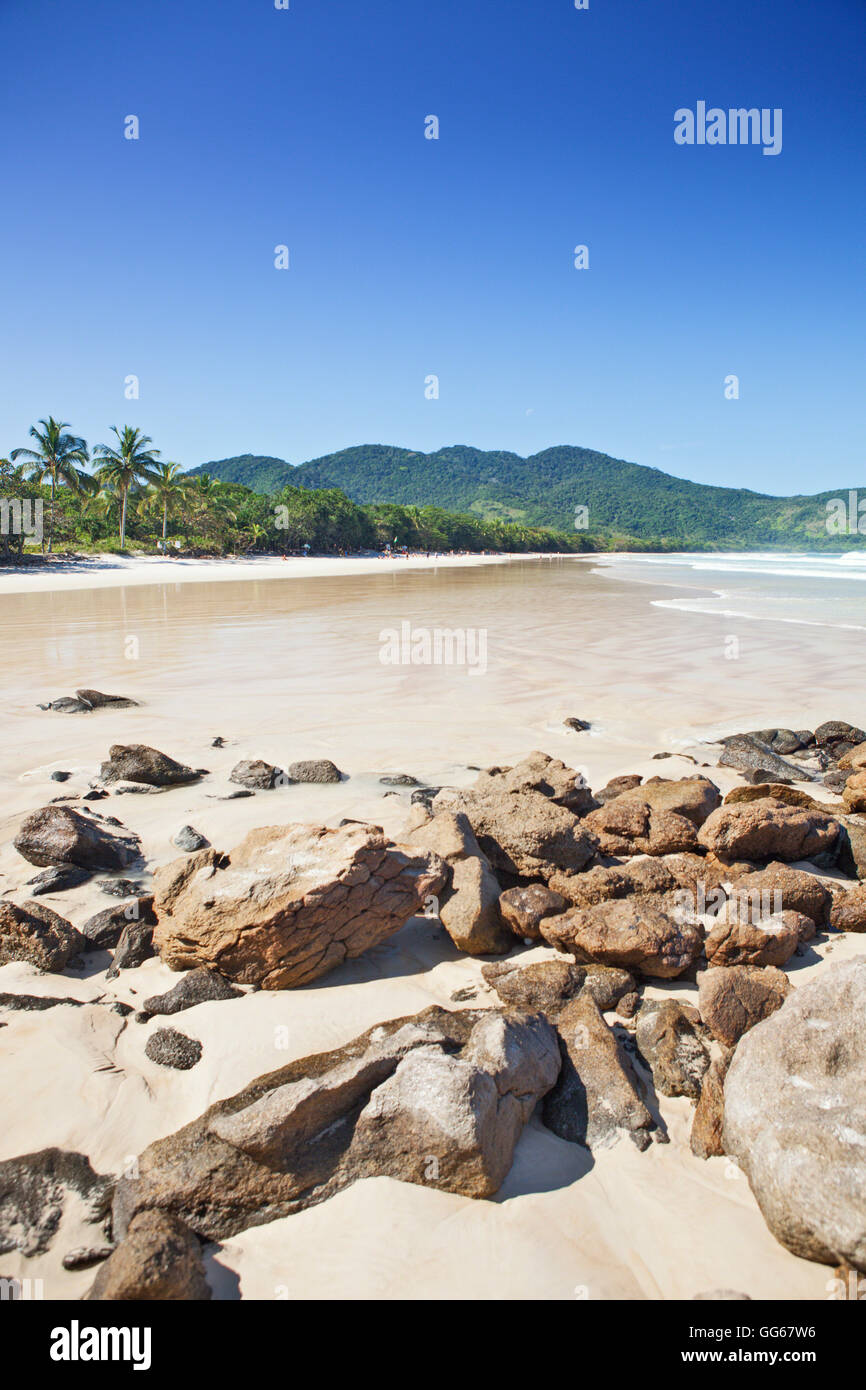 Lopes Mendes sulla spiaggia di Ilha Grande Immagini Stock