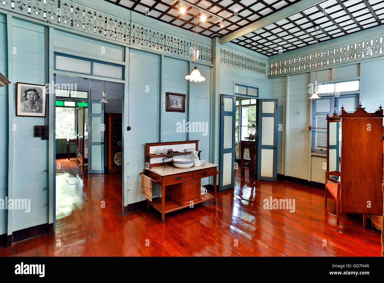 Museo Bangkokian o a Bangkok Folk Museum Situato in Bangrak, Bangkok, Thailandia. Immagini Stock