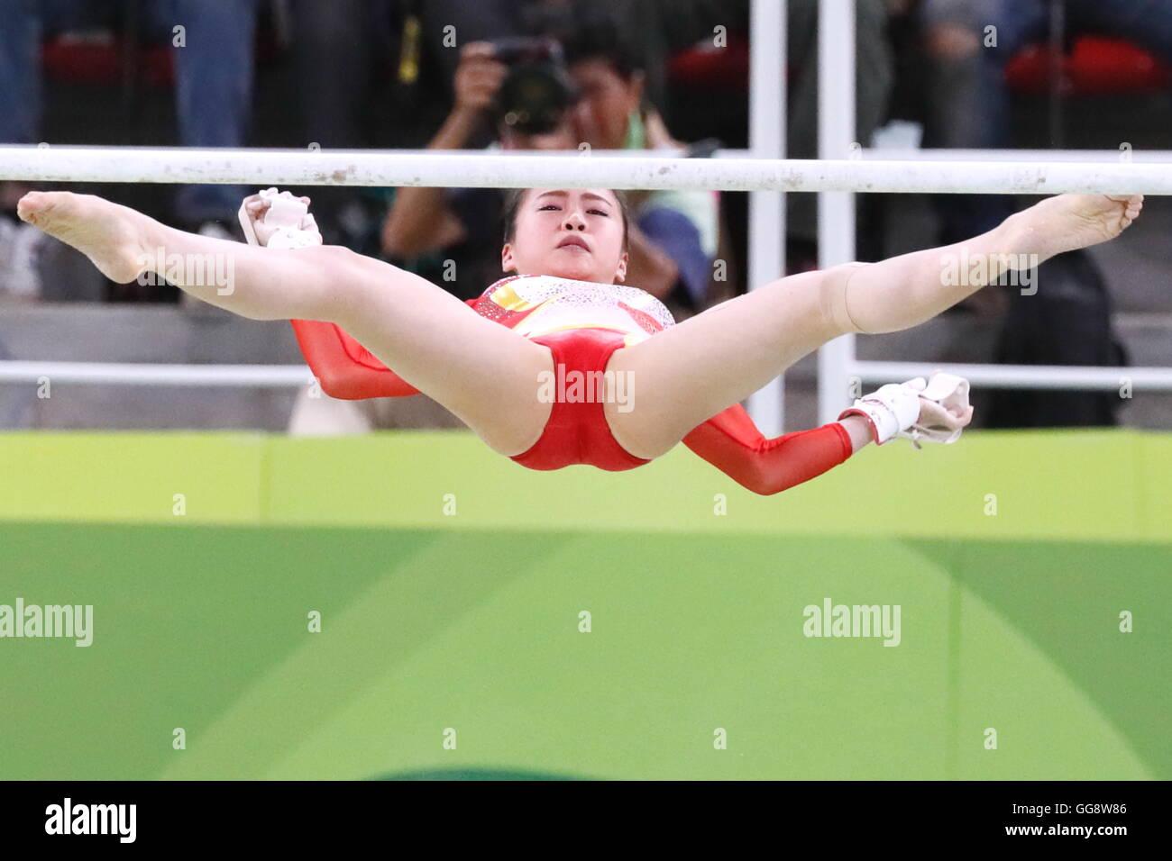 Rio de Janeiro, Brasile. Il 9 agosto, 2016. Aiko Sugihara (JPN) ginnastica artistica : finale donne le barre irregolari Immagini Stock