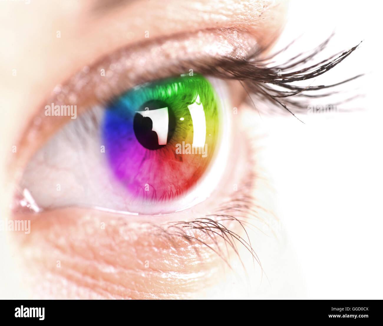 Variopinto dell'occhio Immagini Stock