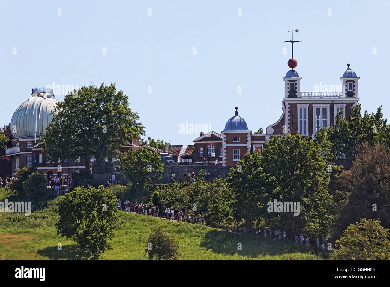 Il Royal Observatory di Greenwich, London, England, Regno Unito Immagini Stock