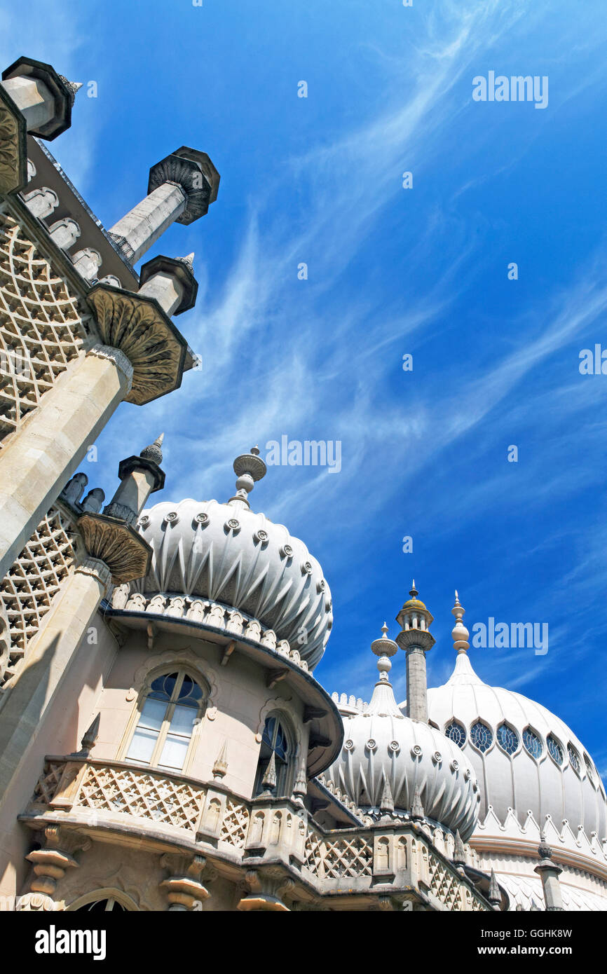 Il Royal Pavillion, Brighton East Sussex, Inghilterra, Gran Bretagna Foto Stock