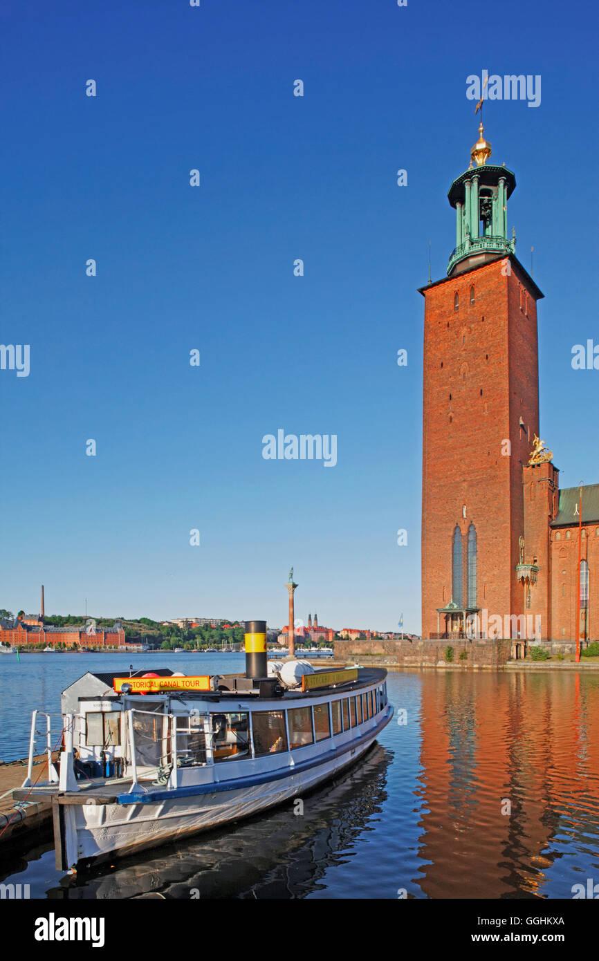 Municipio, Stoccolma, Svezia Immagini Stock