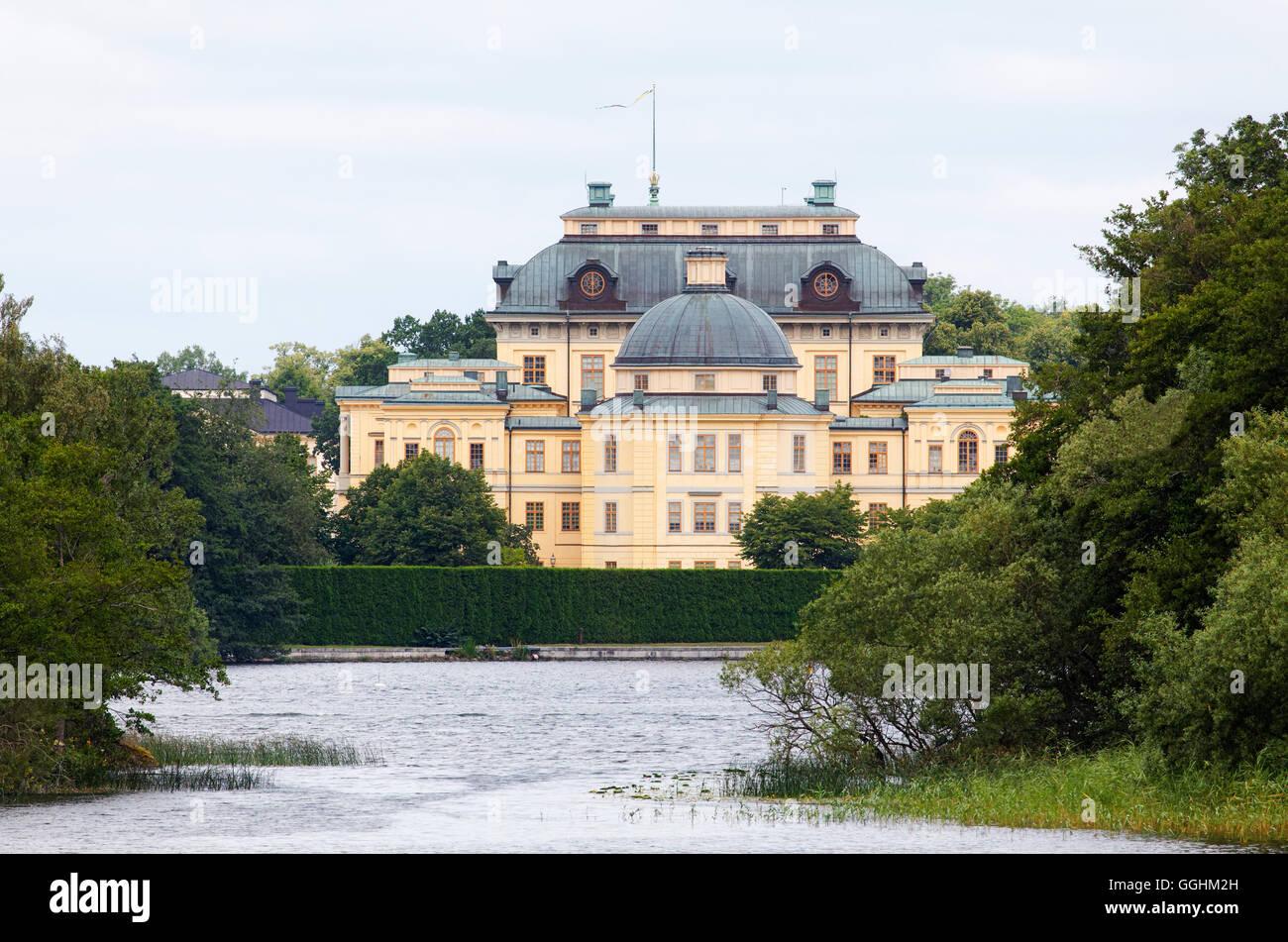 Il Castello di Drottningholm, Stoccolma, Svezia Foto Stock