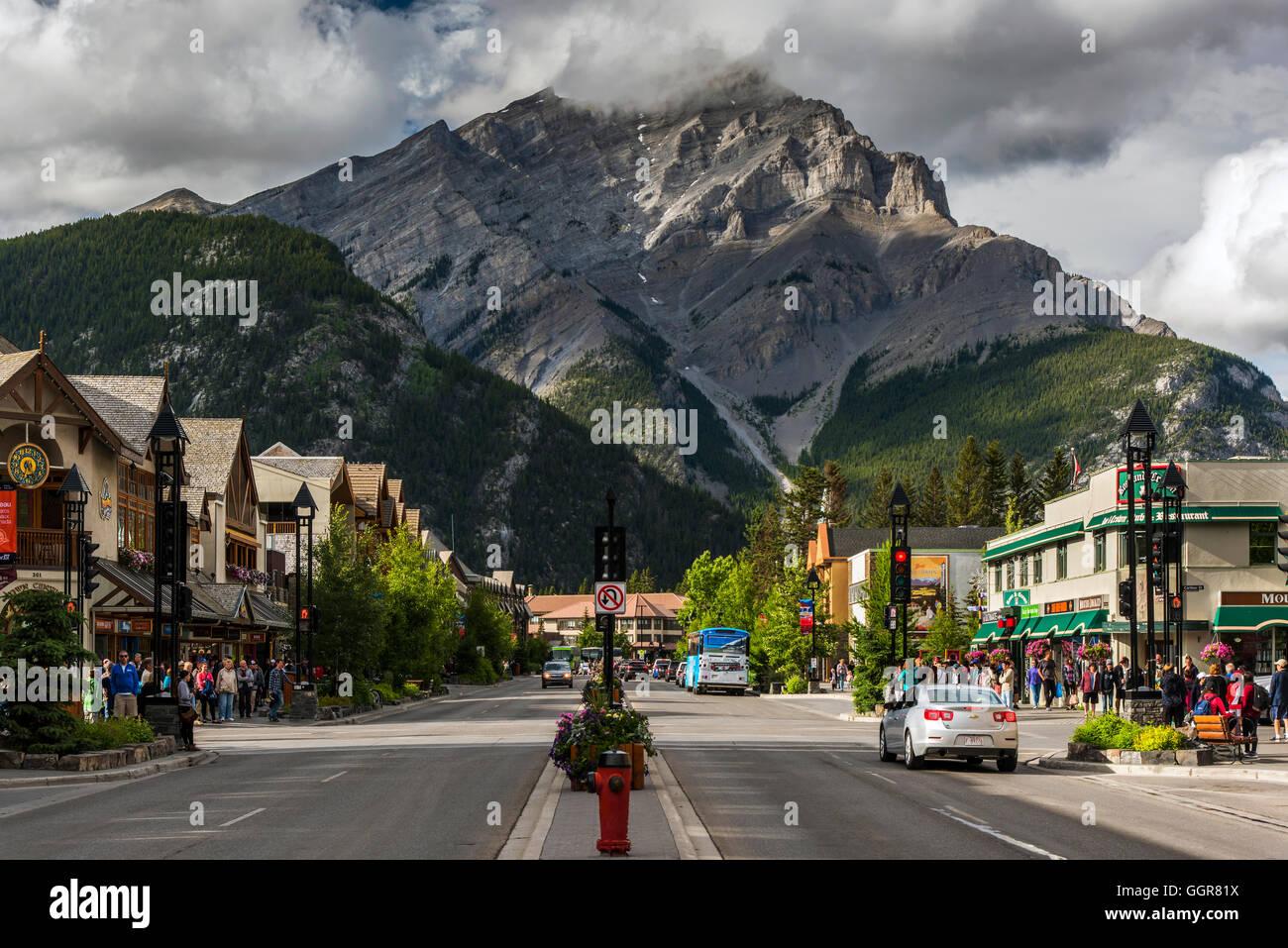 Il villaggio di Banff, Alberta, Canada Foto Stock