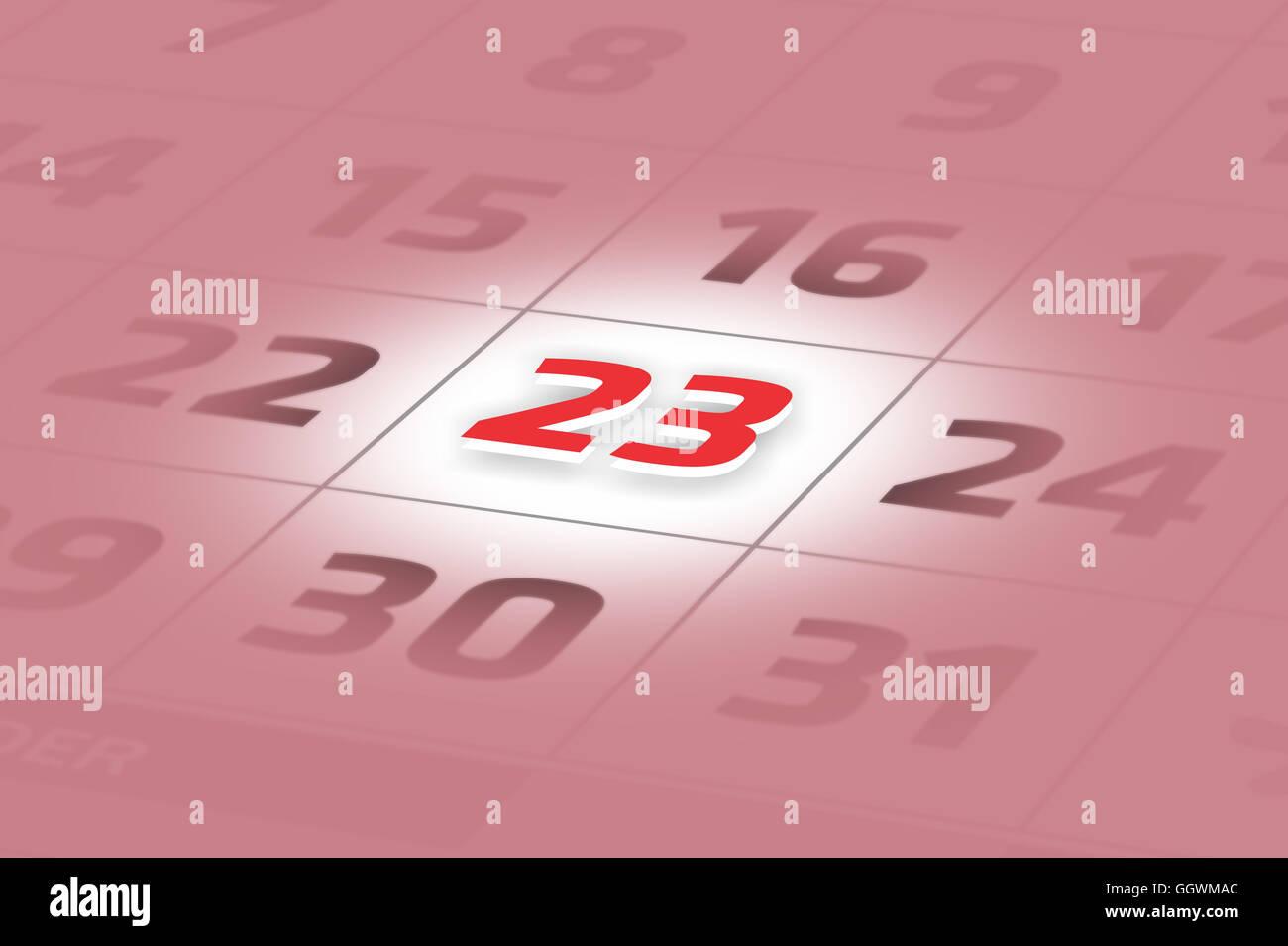Calendario Particolare.Illustrazione Del Calendario Con Una Data Particolare