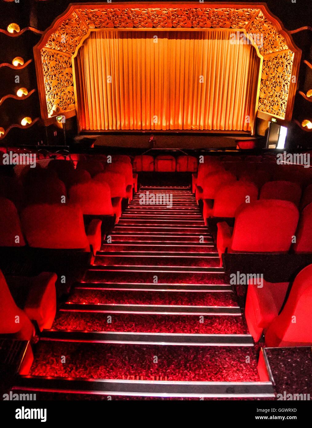 Il Rex Cinema, riconosciuto dal Patrimonio inglese come un ottimo esempio di 1930 art deco - Berkhamsted, Regno Immagini Stock
