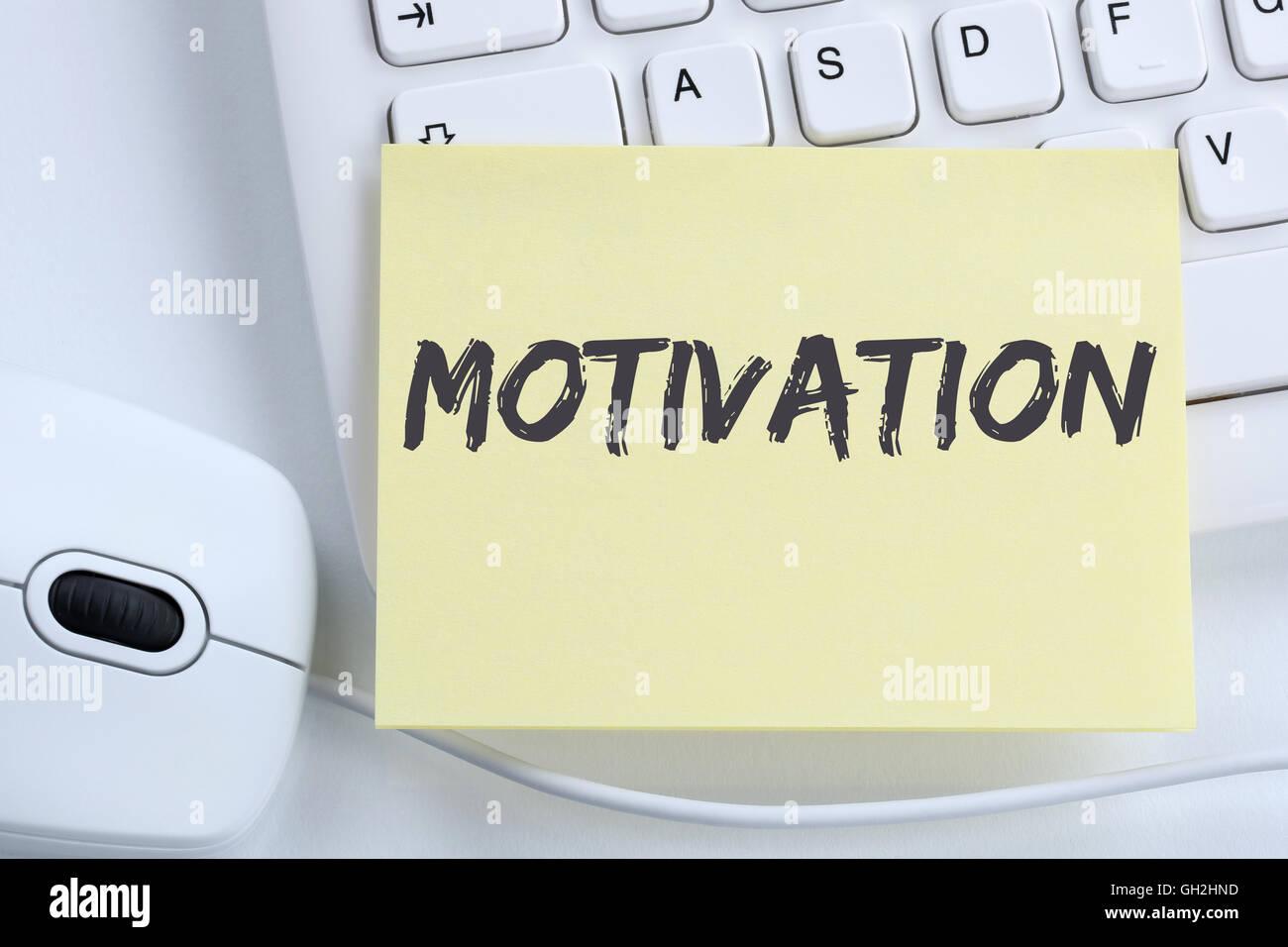 La motivazione della strategia di formazione coaching successo ufficio di successo della tastiera del computer Immagini Stock