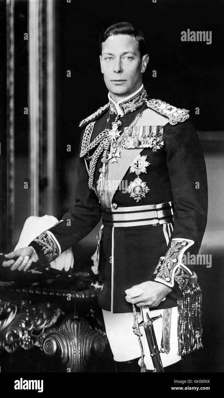 Re George VI Immagini Stock