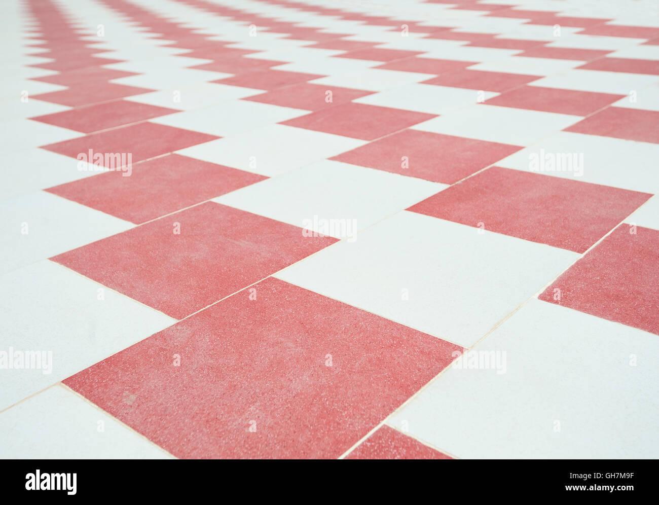Pavimento Rosso E Bianco : Abstract il bianco e il rosso controllato con pavimento in