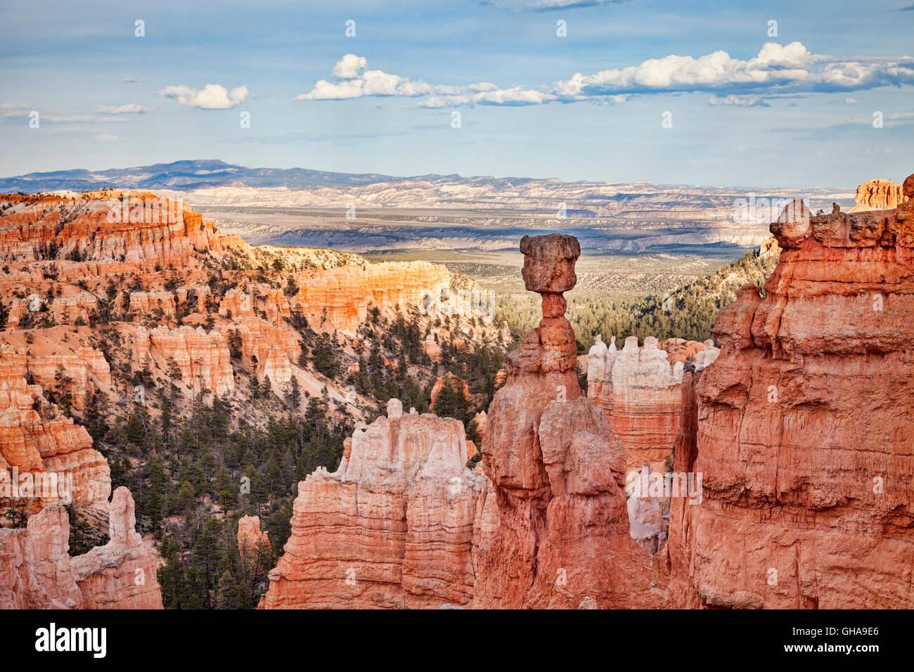Il Thor del martello, il Parco Nazionale di Bryce Canyon, Utah, Stati Uniti d'America Immagini Stock