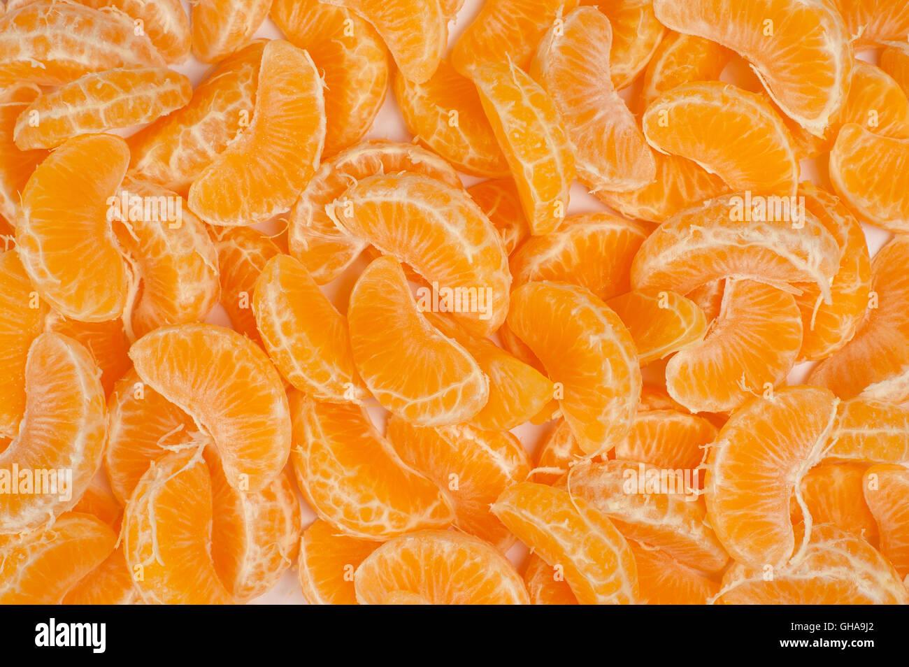 Gli sfondi di frutta - Mandarino Immagini Stock