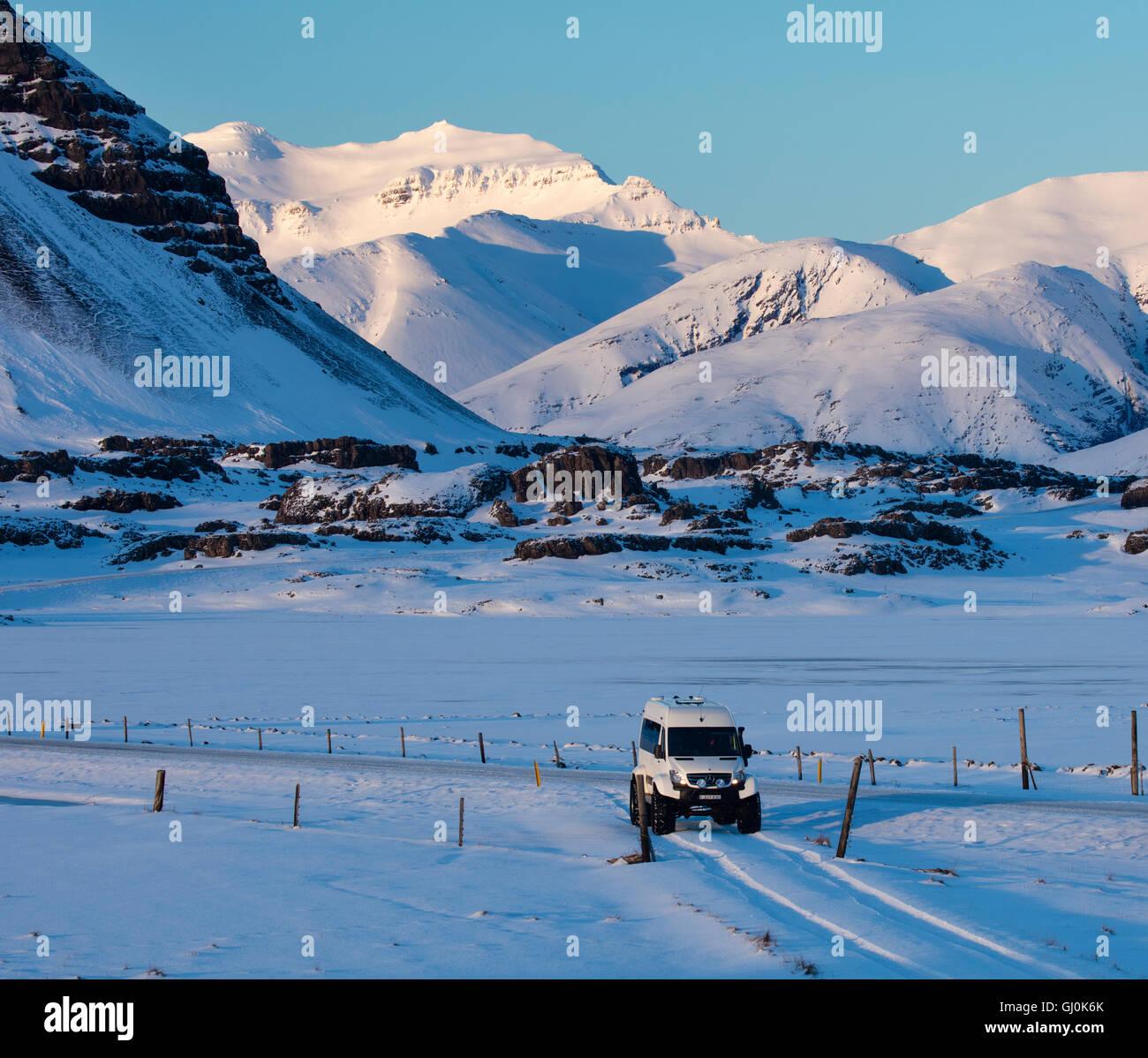 Le nostre ruote in Islanda Immagini Stock