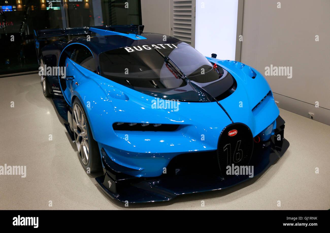 Der Rennwagen Bugatti Vision Gran Turismo, Berlino. Immagini Stock