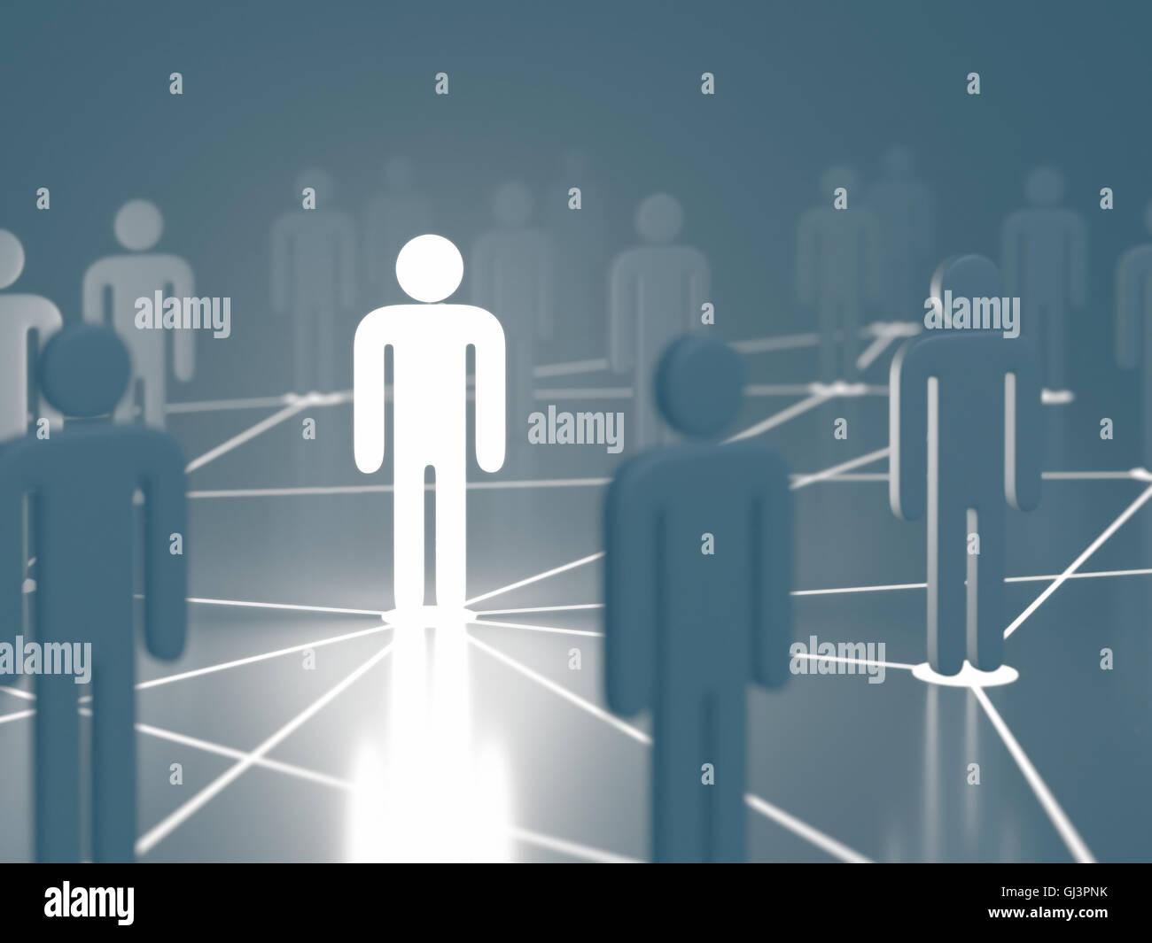 Persone interconnessi sul concetto di business e la comunicazione globale. Immagini Stock