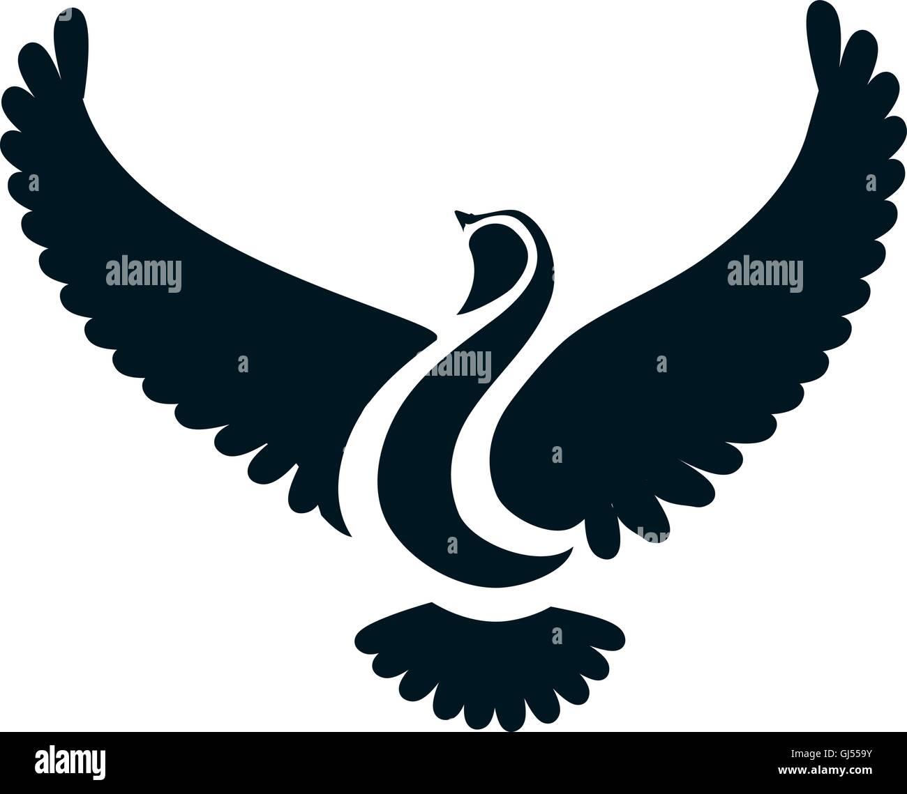 Colomba O Uccello Stilizzata Illustrazione Vettoriale 114439975 Alamy