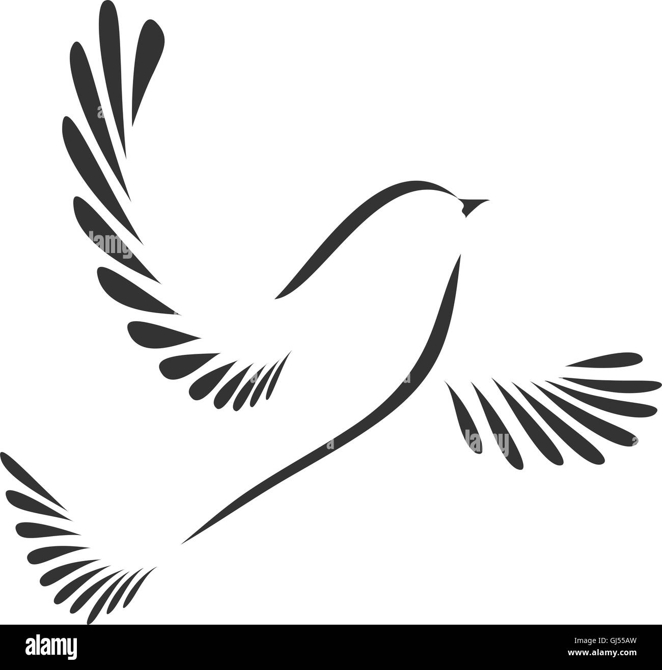 Colomba O Uccello Stilizzata Illustrazione Vettoriale 114440001 Alamy