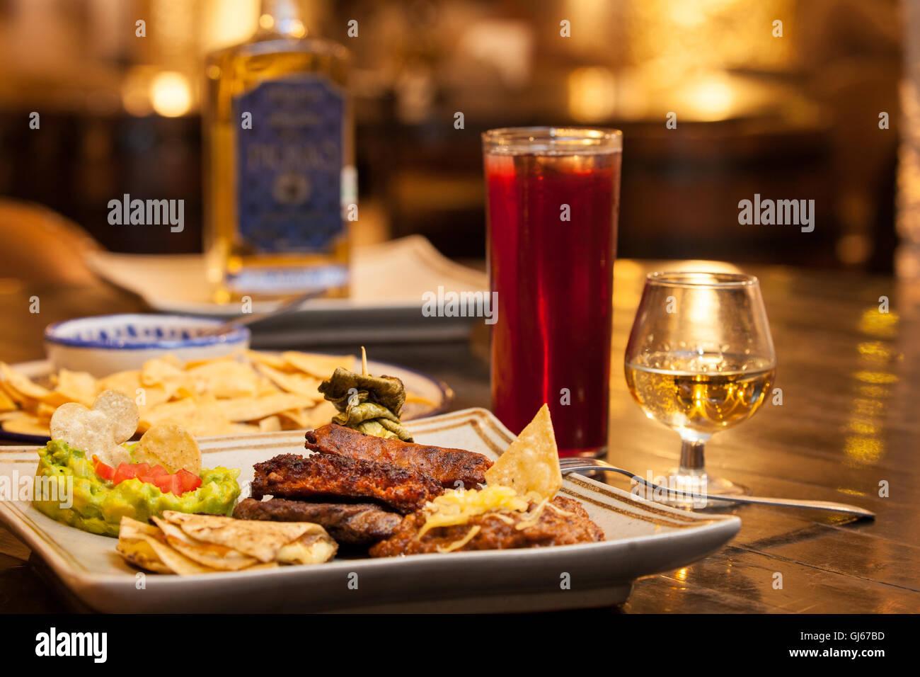 Arrachera jimador in la taberna ristorante a la cofradía hacienda di tequila, jalisco, Messico. Immagini Stock