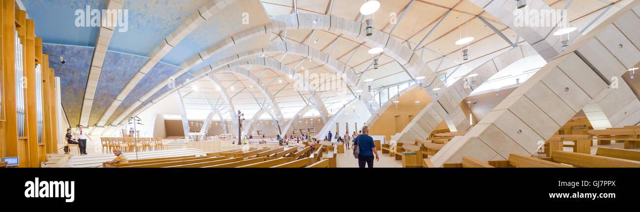 San Giovanni Rotondo moderna chiesa Padre Pio Renzo Piano Immagini Stock
