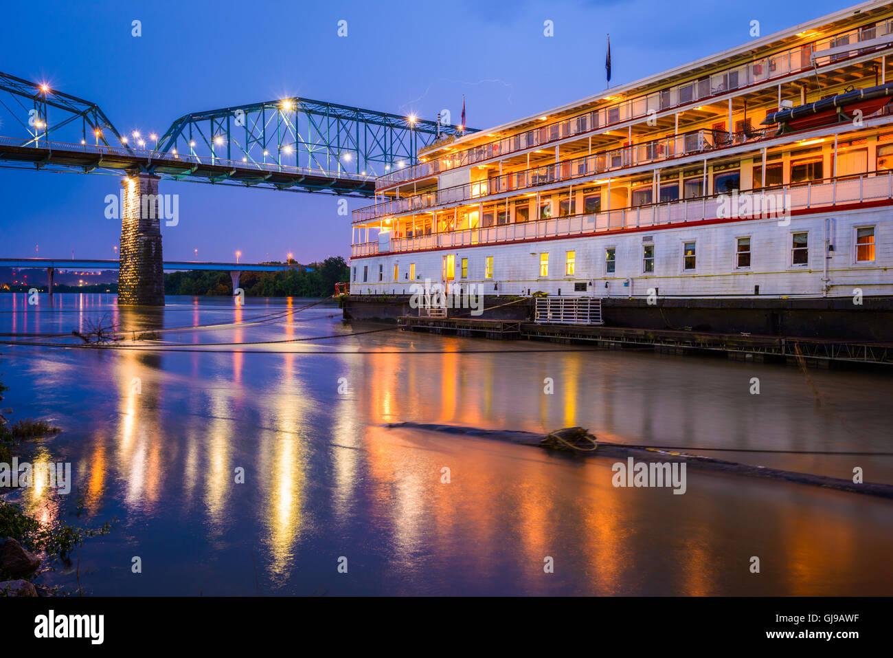 Chattanooga, Tennessee, Stati Uniti d'America riverfront. Immagini Stock
