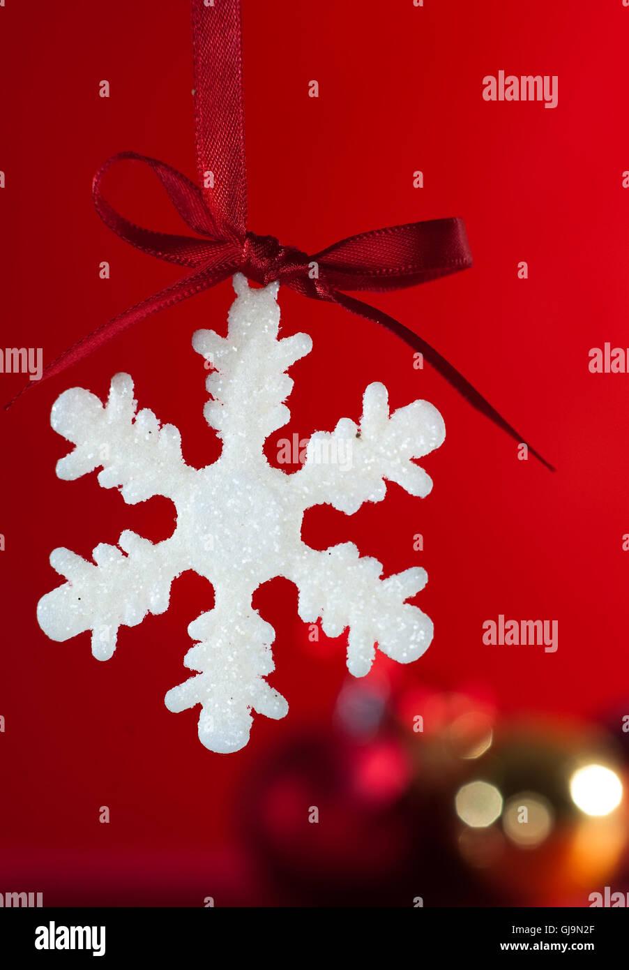 Il simbolo del fiocco di neve di natale Immagini Stock