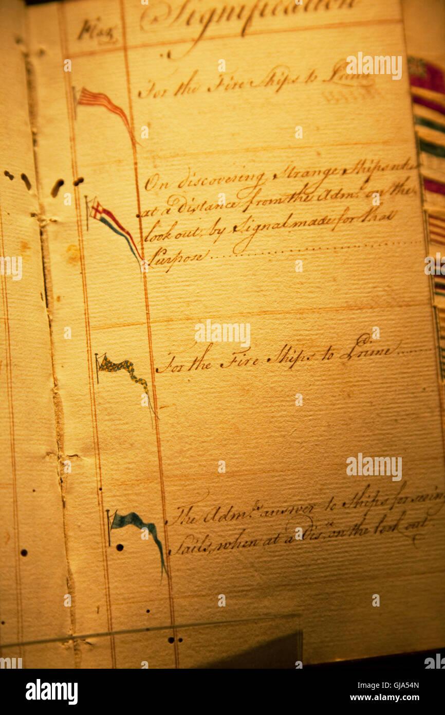 Documenti, vecchio, la grafia, ingiallimento Immagini Stock
