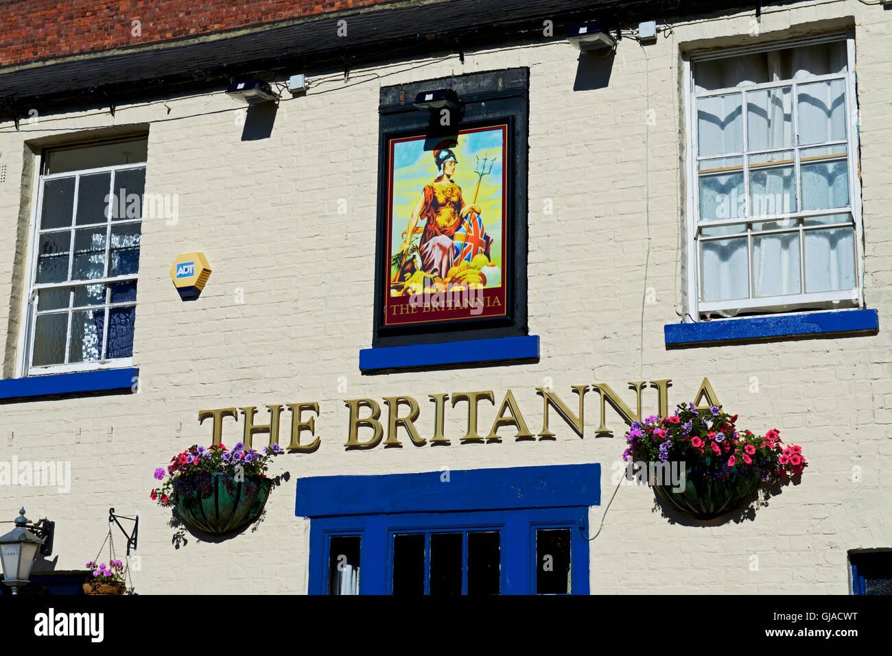 Il Britannia pub in Darlington, County Durham, England Regno Unito Immagini Stock