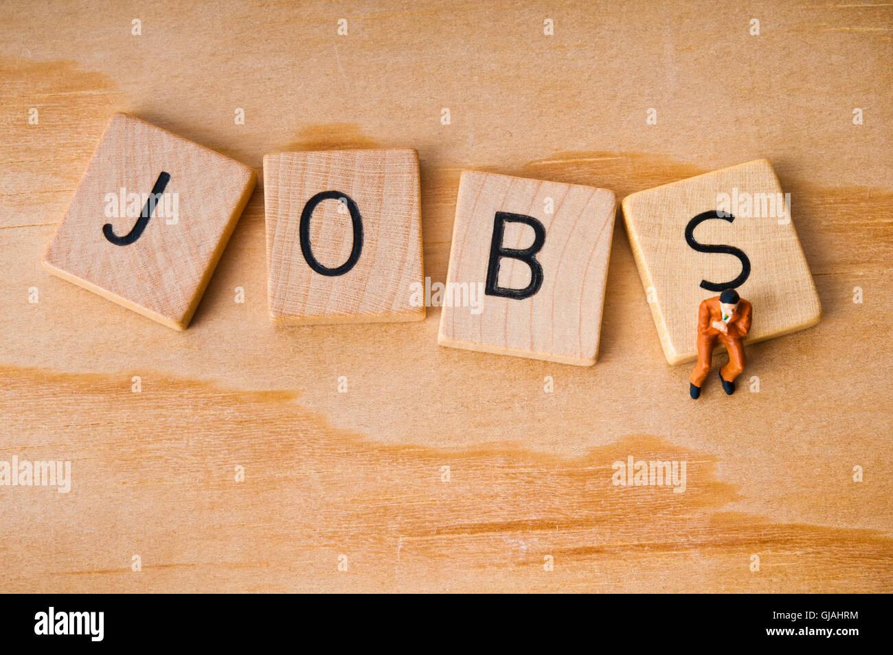 La ricerca di lavoro concept Immagini Stock