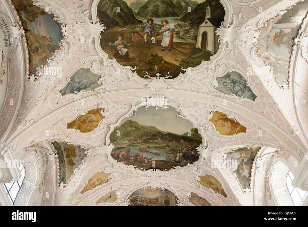 Soffitto A Volta Affrescato : Europa austria austria tirolo eben chiesa st. notburga