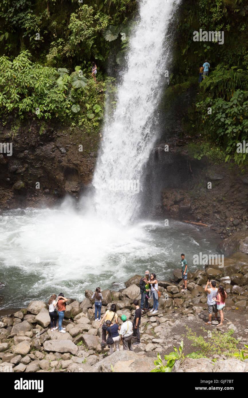 La Paz waterfall, Poa, Costa Rica, America Centrale Immagini Stock