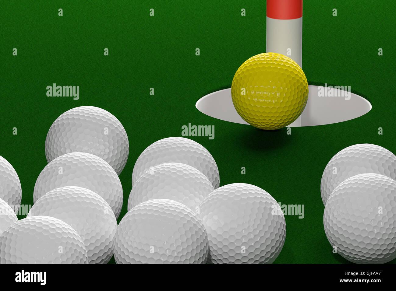 3D rendering del concetto di leadership sfondo astratto. Immagini Stock