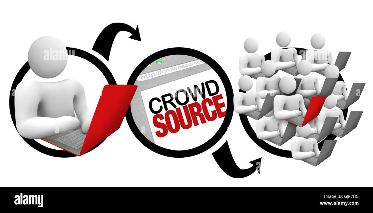 Crowdsourcing - Schema della folla Project sorgente Immagini Stock
