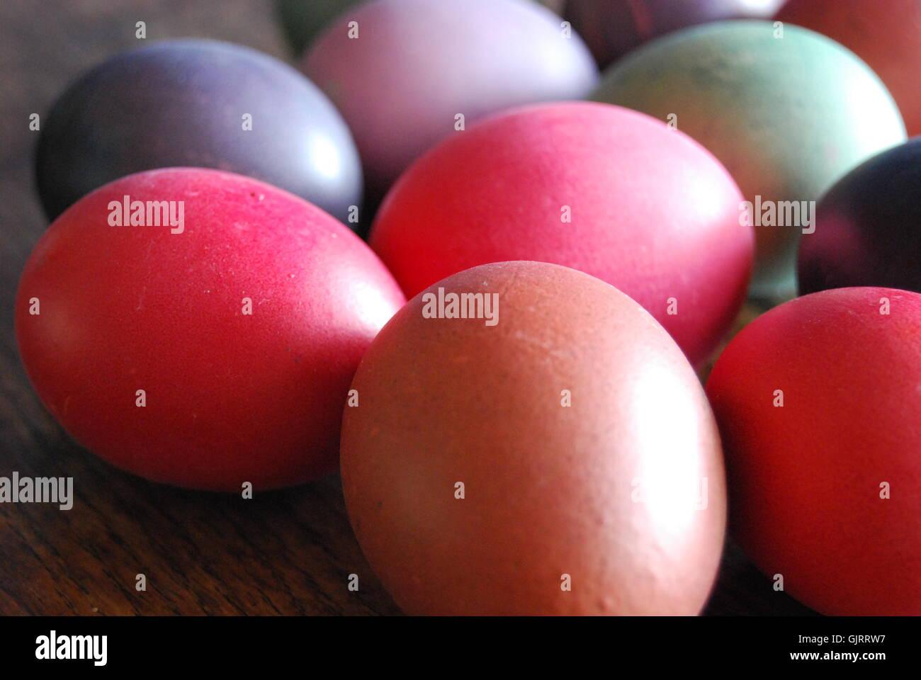 Uova di Pasqua le tradizioni Immagini Stock