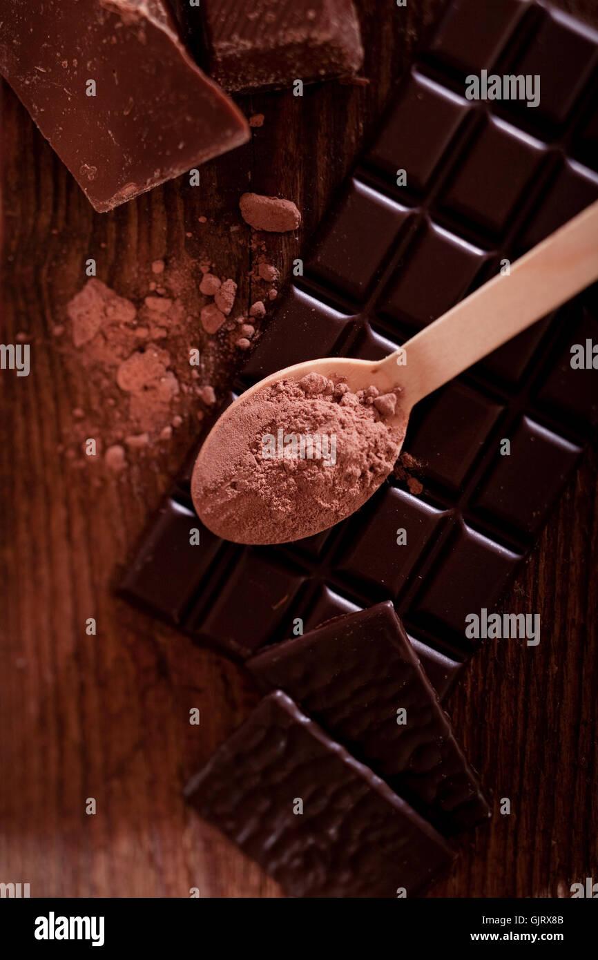 Dolcezza di polvere di cacao Immagini Stock