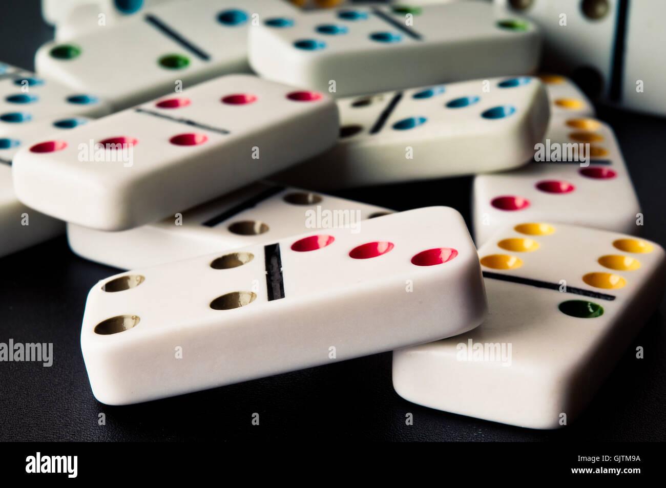 tessere del Domino Immagini Stock
