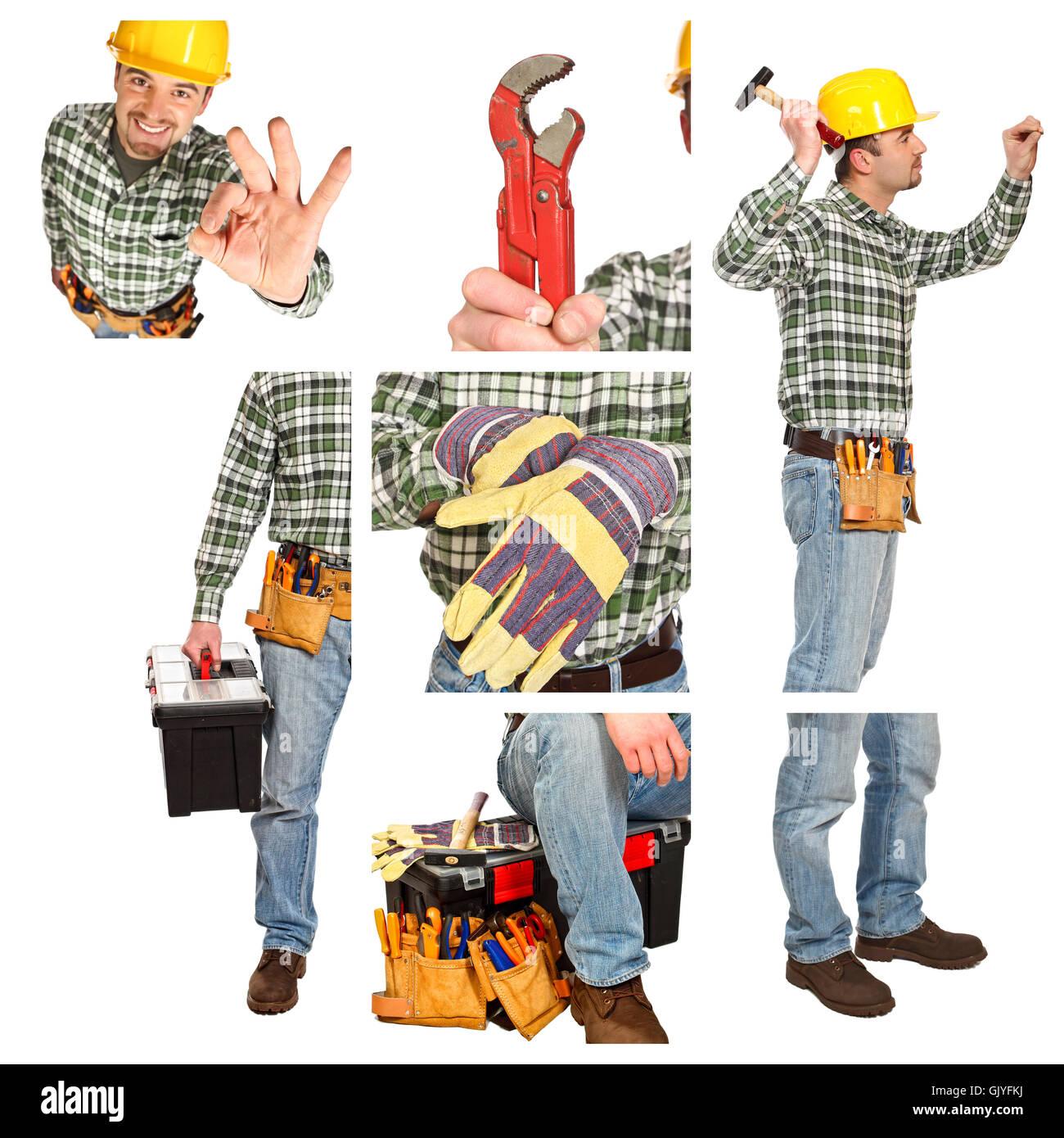 Carpenter foreman tuttofare Immagini Stock