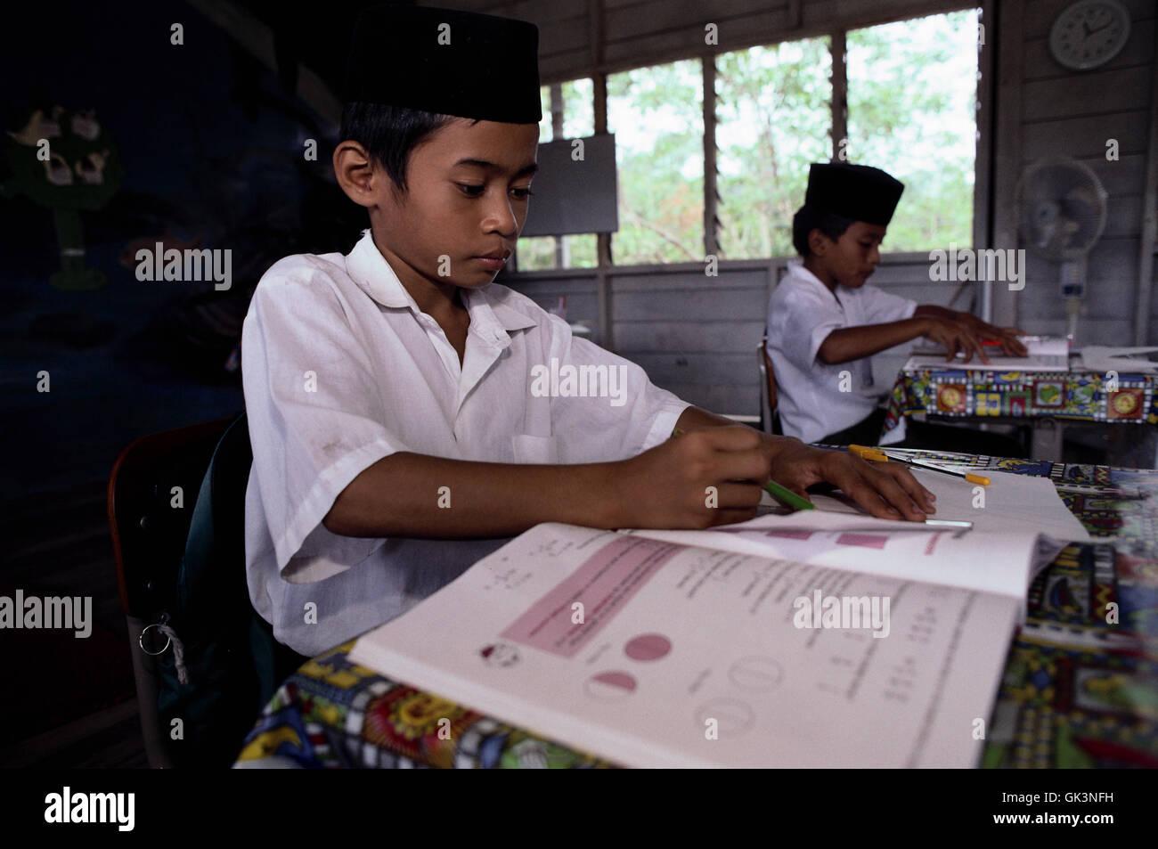 Ca. 1990 - 2000 --- ragazzi musulmani a scuola --- Image by © Jeremy Horner Immagini Stock