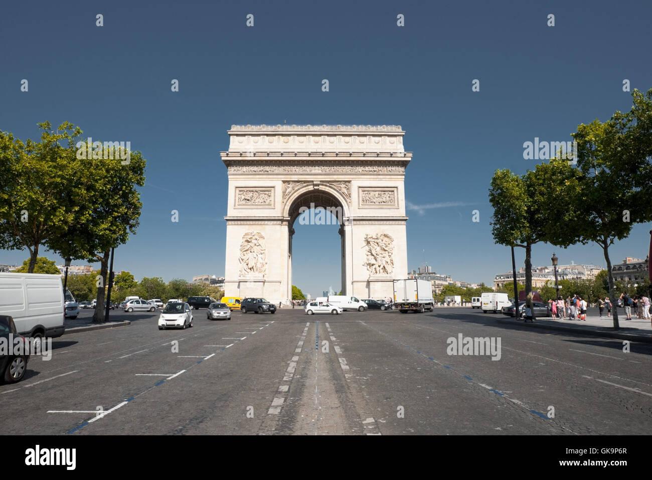 Parigi Arco centrato Immagini Stock