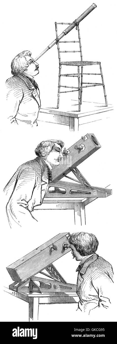Osservatorio astronomico del XIX secolo Immagini Stock