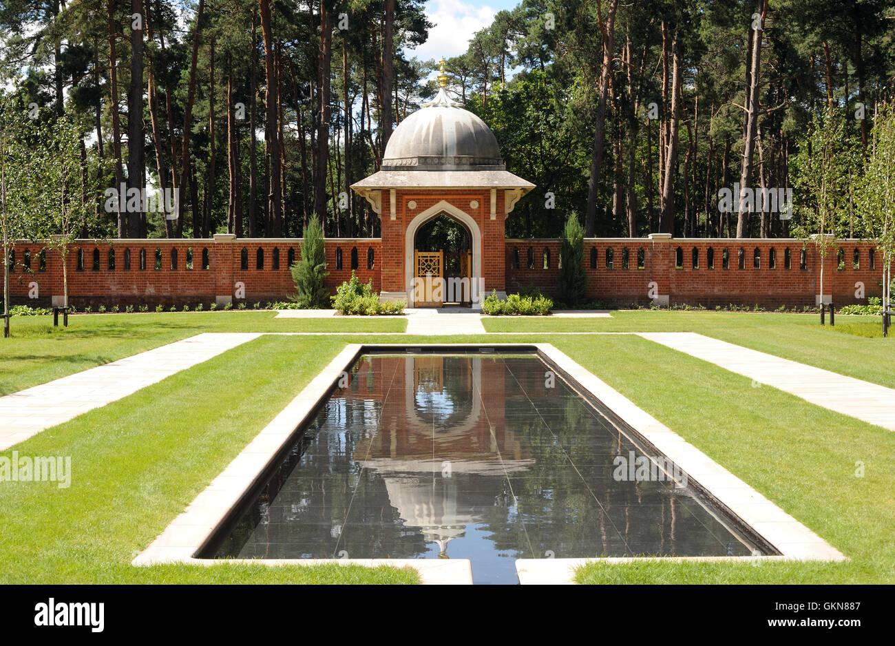 Il musulmano Sepoltura la pace del giardino. Woking, Surrey, Regno Unito Immagini Stock