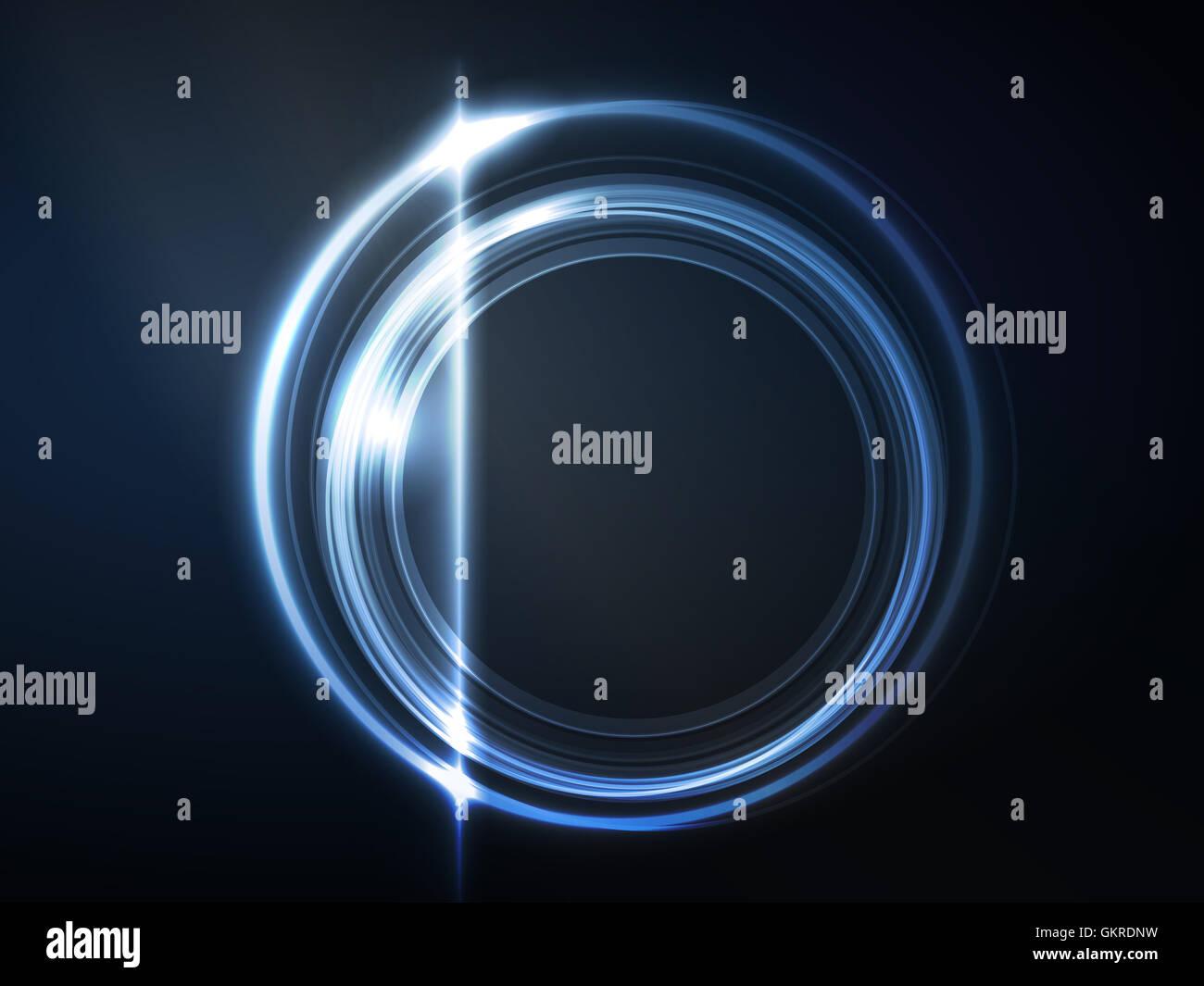 Blu telaio circolare Immagini Stock