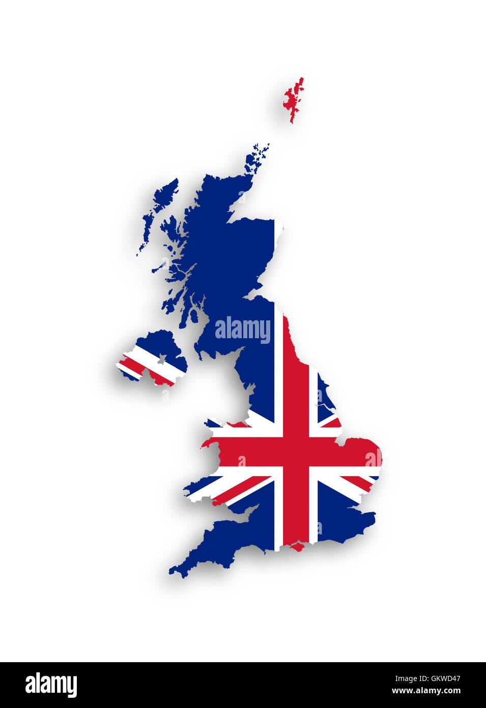 Cartina Regno Unito E Irlanda Del Nord.Mappa Del Regno Unito Di Gran Bretagna E Irlanda Del Nord Foto Stock Alamy