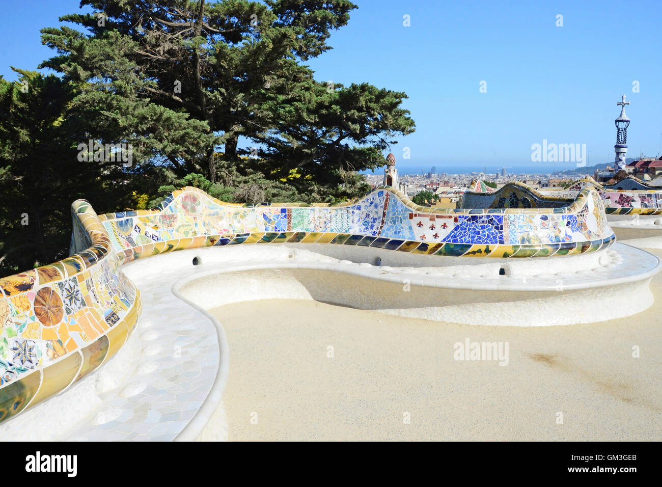 Parco Guell, Barcellona Immagini Stock